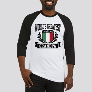 World's Greatest Italian Grandpa Baseball Jersey