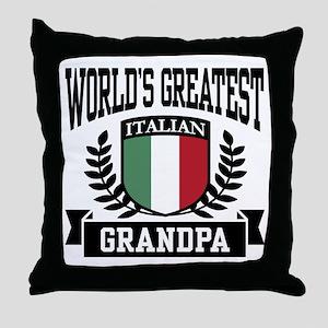 World's Greatest Italian Grandpa Throw Pillow