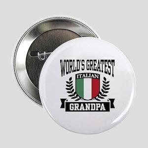 """World's Greatest Italian Grandpa 2.25"""" Button"""