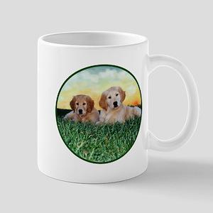 Two Golden Puppies Mug