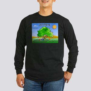 Autism - Thinking Differently Long Sleeve Dark T-S