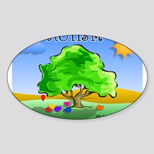 Autism - Thinking Differently Oval Sticker