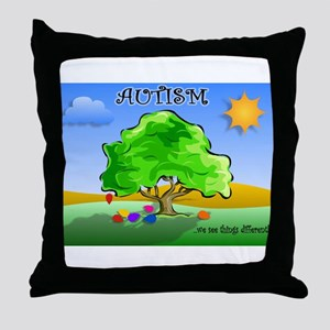 Autism - Thinking Differently Throw Pillow