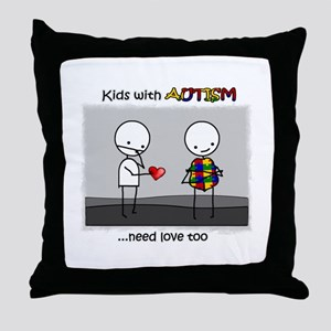 Kids With Autism Throw Pillow