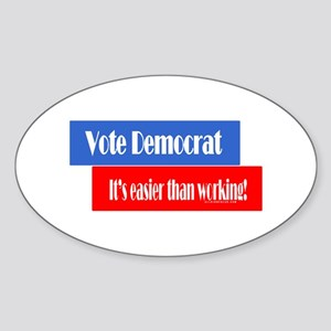 Vote Democrat Oval Sticker