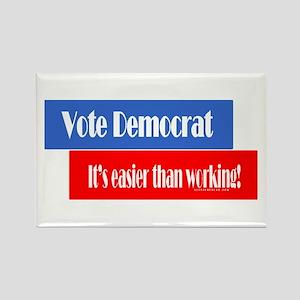 Vote Democrat Rectangle Magnet