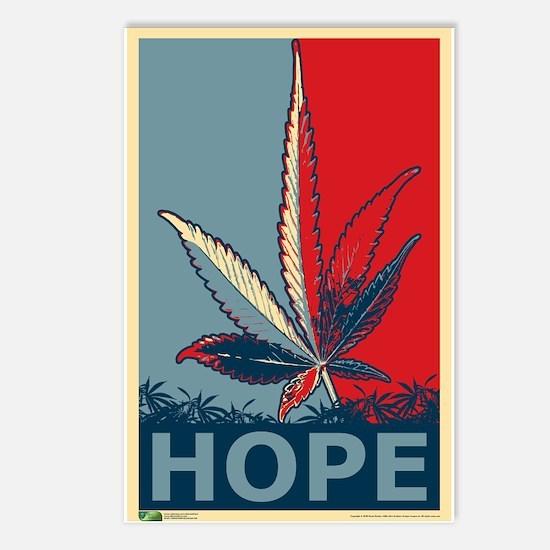 """""""Hope For Sense"""" Legalize Marijuana Postcards (Pac"""
