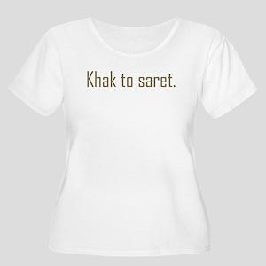 Khak to saret Women's Plus Size Scoop Neck T-Shirt