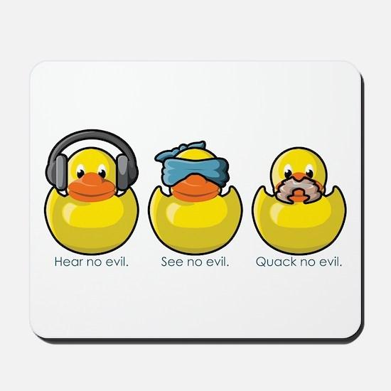 No Evil Ducks Mousepad