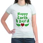 Happy Earth Day Jr. Ringer T-Shirt