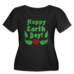 Happy Earth Day Women's Plus Size Scoop Neck Dark