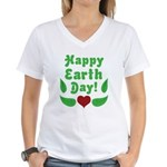 Happy Earth Day Women's V-Neck T-Shirt