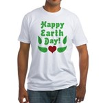 Happy Earth Day Fitted T-Shirt