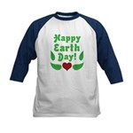 Happy Earth Day Kids Baseball Jersey