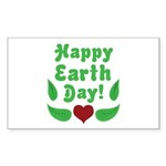 Happy Earth Day Rectangle Sticker 10 pk)