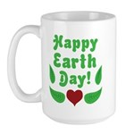 Happy Earth Day Large Mug