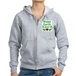 Happy Earth Day Women's Zip Hoodie