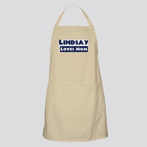 Lindsay Loves Mom BBQ Apron