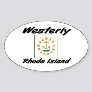 Westerly Rhode Island Oval Sticker