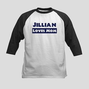Jillian Loves Mom Kids Baseball Jersey