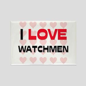 I LOVE WATCHMEN Rectangle Magnet