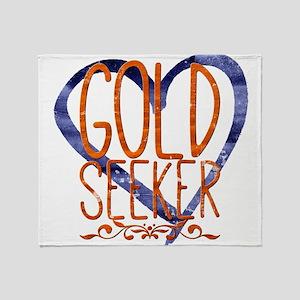 Gold seeker Throw Blanket