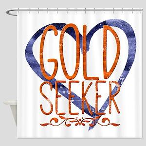 Gold seeker Shower Curtain