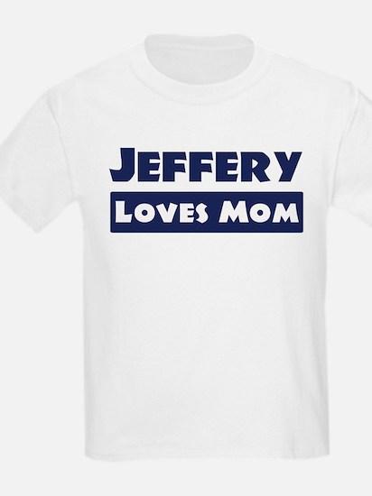 Jeffery Loves Mom T-Shirt