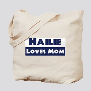 Hailie Loves Mom Tote Bag