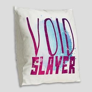 Void Slayer Burlap Throw Pillow