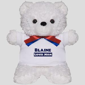 Blaine Loves Mom Teddy Bear