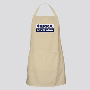 Cierra Loves Mom BBQ Apron