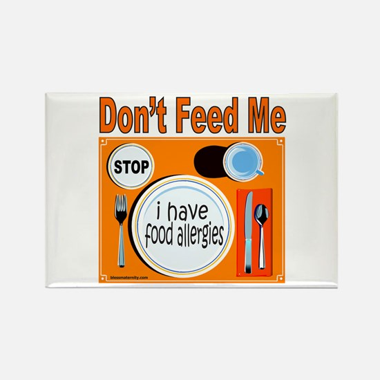 DON'T FEED ME Rectangle Magnet