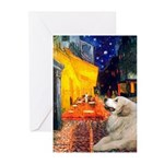 Cafe / Great Pyrenees Greeting Cards (Pk of 10)