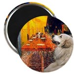 Cafe / Great Pyrenees Magnet