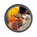 Cafe / Great Pyrenees Wall Clock