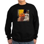 Cafe / Great Pyrenees Sweatshirt (dark)