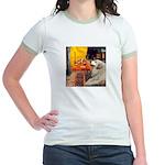 Cafe / Great Pyrenees Jr. Ringer T-Shirt