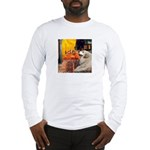 Cafe / Great Pyrenees Long Sleeve T-Shirt