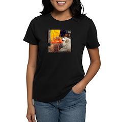 Cafe / Great Pyrenees Women's Dark T-Shirt