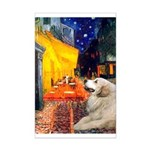 Cafe / Great Pyrenees Mini Poster Print
