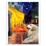 Cafe / Great Pyrenees Small Poster