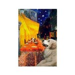 Cafe / Great Pyrenees Rectangle Magnet (10 pack)