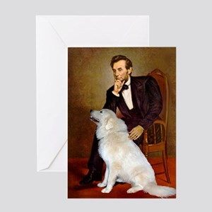 Lincoln / Great Pyrenees Greeting Card