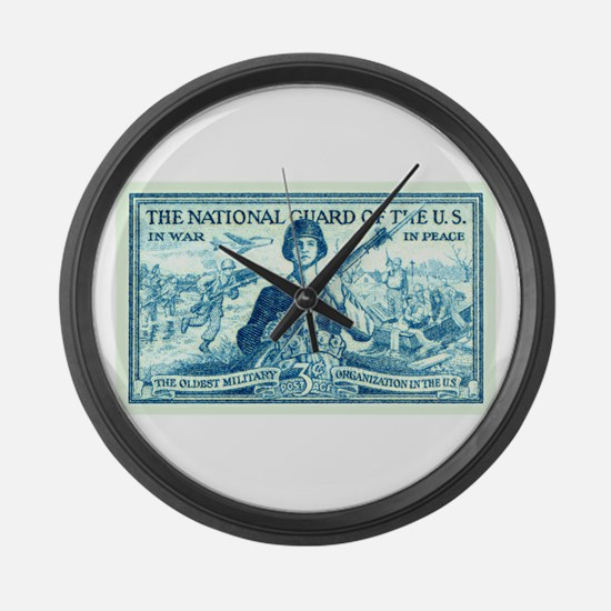 Cute National guard Large Wall Clock