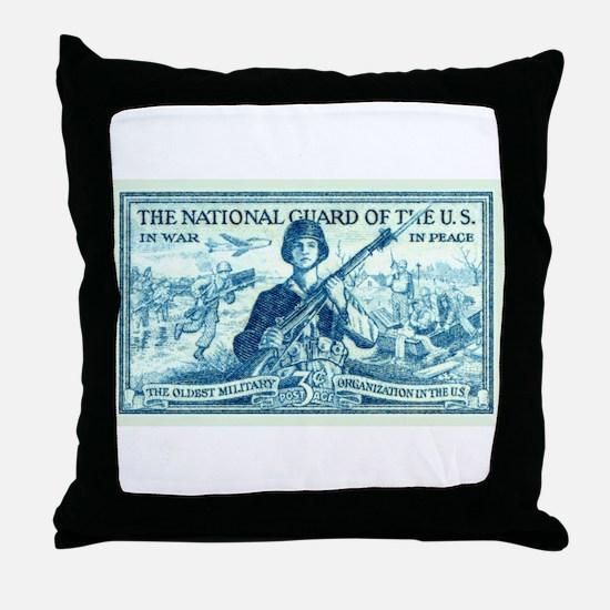 Unique National guard Throw Pillow