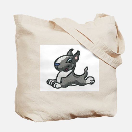 Cute Miniature bull terrier Tote Bag