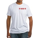 Apple Row Fitted T-Shirt
