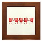 Apple Row Framed Tile