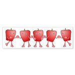 Apple Row Bumper Sticker (10 pk)